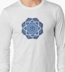 Vintage Blue Flower Mandala T-Shirt