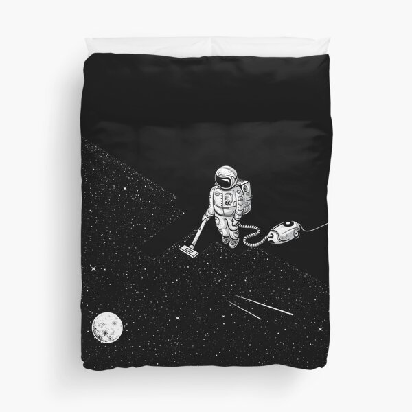 Space Cleaner Duvet Cover