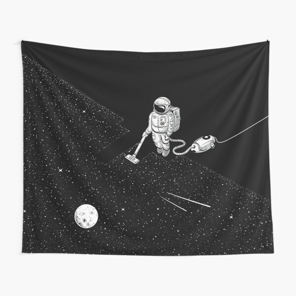 Space Cleaner Tapestry