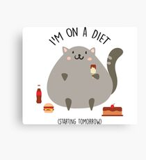 Cat on a diet Canvas Print