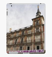 Love Message on Plaza Mayor in Madrid Spain iPad Case/Skin