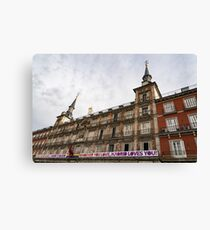 Love Message on Plaza Mayor in Madrid Spain Canvas Print