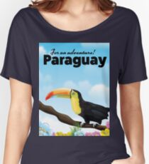 Paraguay Toucan travel poster Women's Relaxed Fit T-Shirt