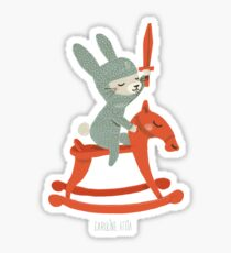Lapin chevalier Sticker
