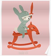 Lapin chevalier Poster