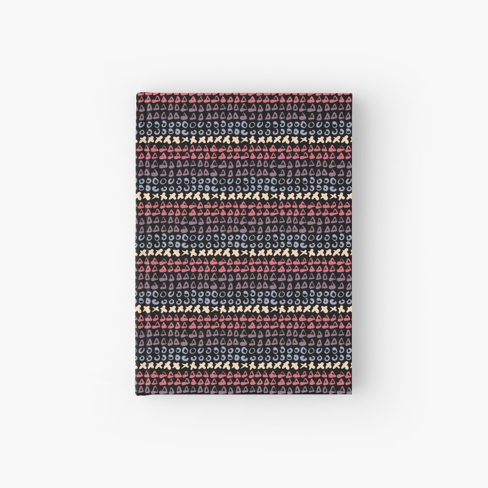 Geometric pattern abstract 1 Hardcover Journal