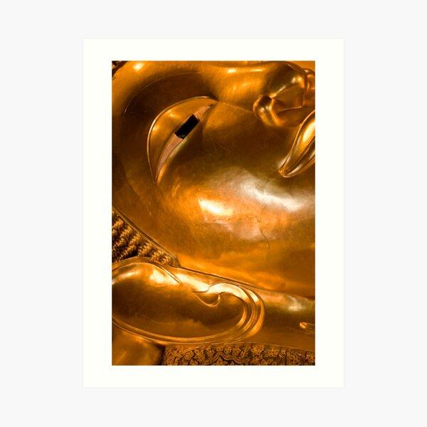 The big reclining Buddha at Wat Po, Bangok Art Print