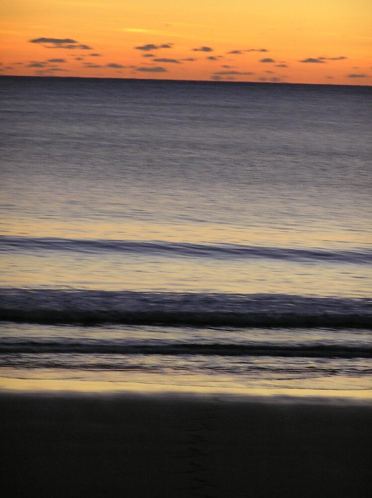 Sunrise over Agnes waters beach Austrailia - sun sea and sand by PennyB