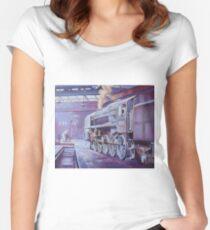 British Railways Standard 9F on Saltley turntable. Women's Fitted Scoop T-Shirt