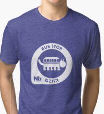 Neko Bus Stop Merchandise Tri-blend T-Shirt