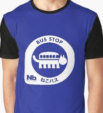 Neko Bus Stop Merchandise Graphic T-Shirt