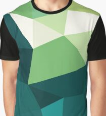 Green Abstract Geometric Pattern Graphic T-Shirt