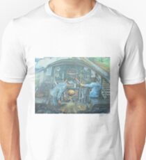 On the footplate of a Castle class locomotive. Unisex T-Shirt