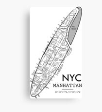 NYC, Manhattan neighborhoods Canvas Print