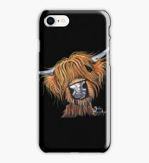 Scottish Highland Cow ' JIMMY ' by Shirley MacArthur iPhone Case/Skin