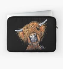 Scottish Highland Cow ' JIMMY ' by Shirley MacArthur Laptop Sleeve