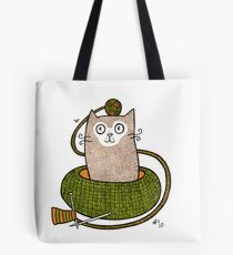 Knit One Purrl One Tote Bag