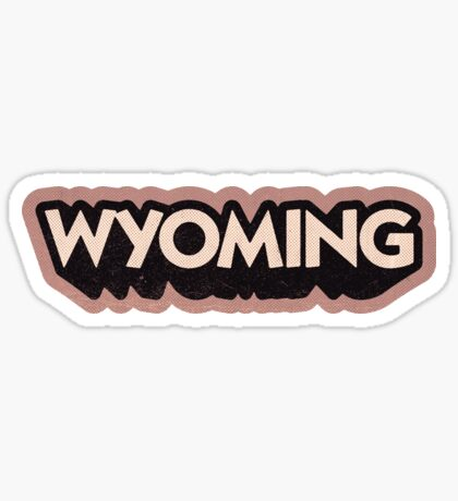 Wyoming State Sticker | Retro Pop Sticker
