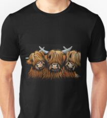 Scottish Highland Hairy Cows 'The Young Ones' by Shirley MacArthur T-Shirt