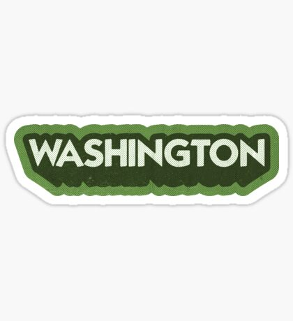 Washington State Sticker | Retro Pop Sticker