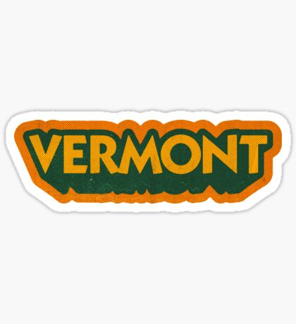 Vermont State Sticker | Retro Pop Sticker