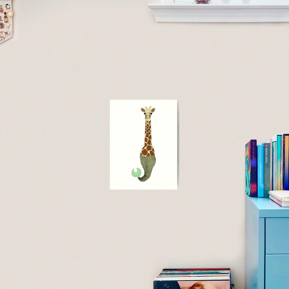 Mermaid Giraffe Art Print