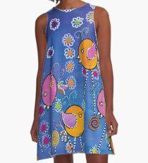 Floral explosion A-Line Dress
