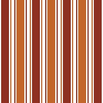 Orange, Brown And White Striped Pattern by semas