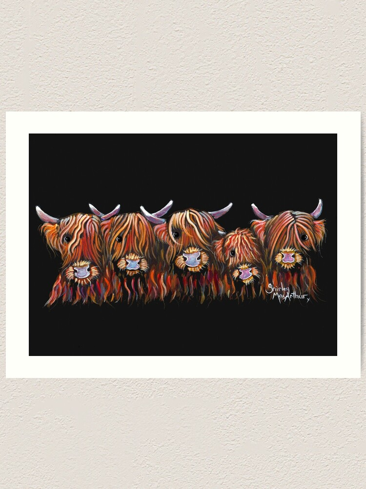 HIGHLAND COW PRINTS of Original Painting /' THe CooS /' by SHIRLEY MACARTHUR