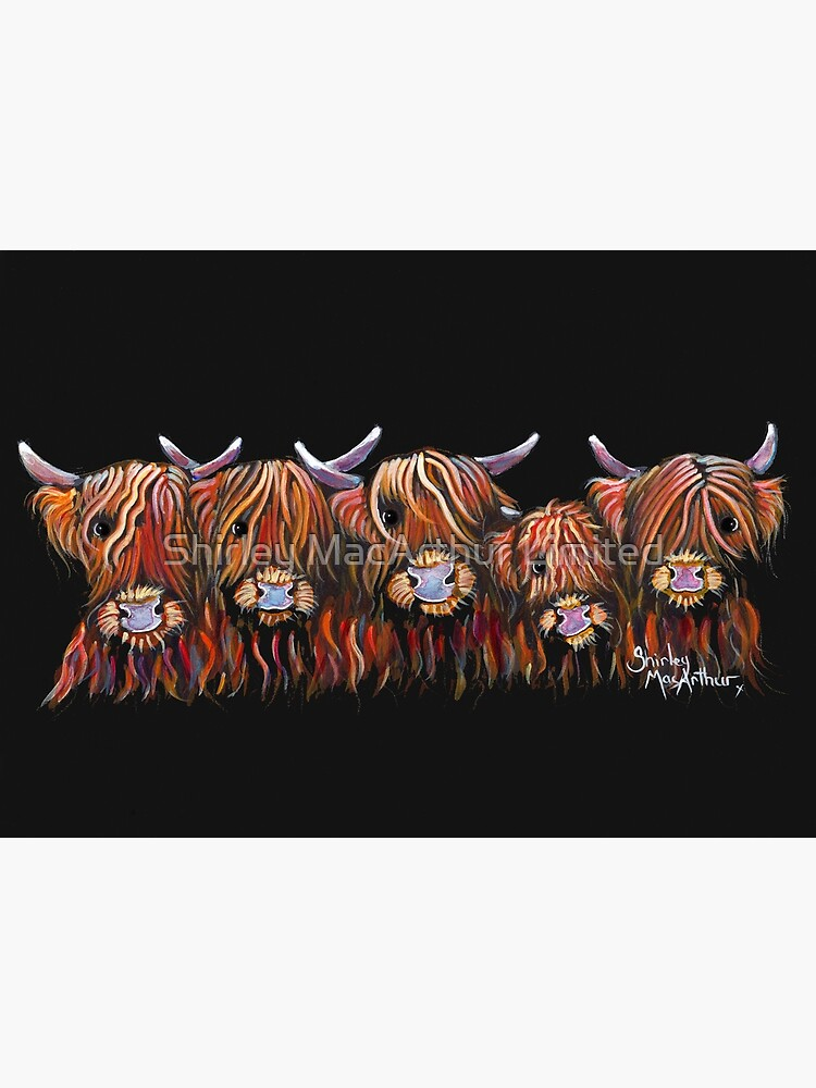 Scottish Highland Hairy Cows 'The Hairy Bunch of Coos' by Shirley MacArthur by ShirleyMacA