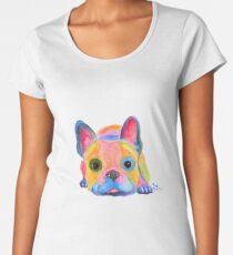 French Bulldog PRiNT ' AM I FRENCH ? ' by Shirley MacArthur Women's Premium T-Shirt