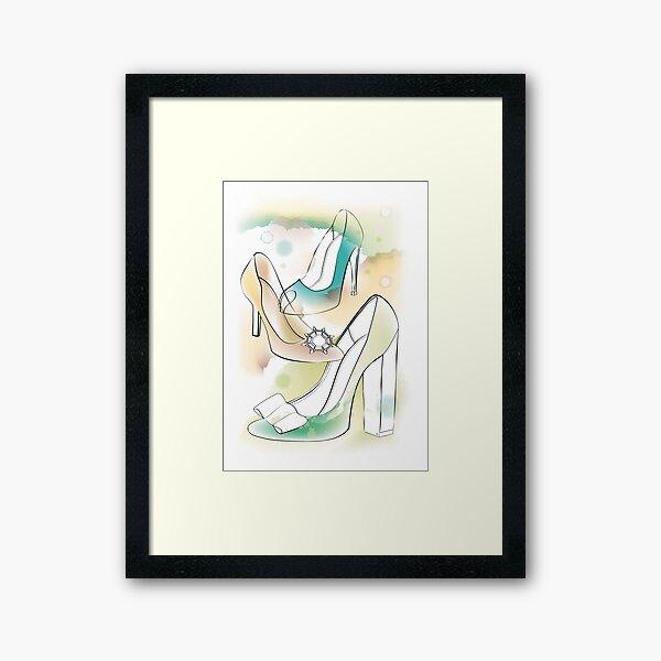 Watercolour heels Framed Art Print