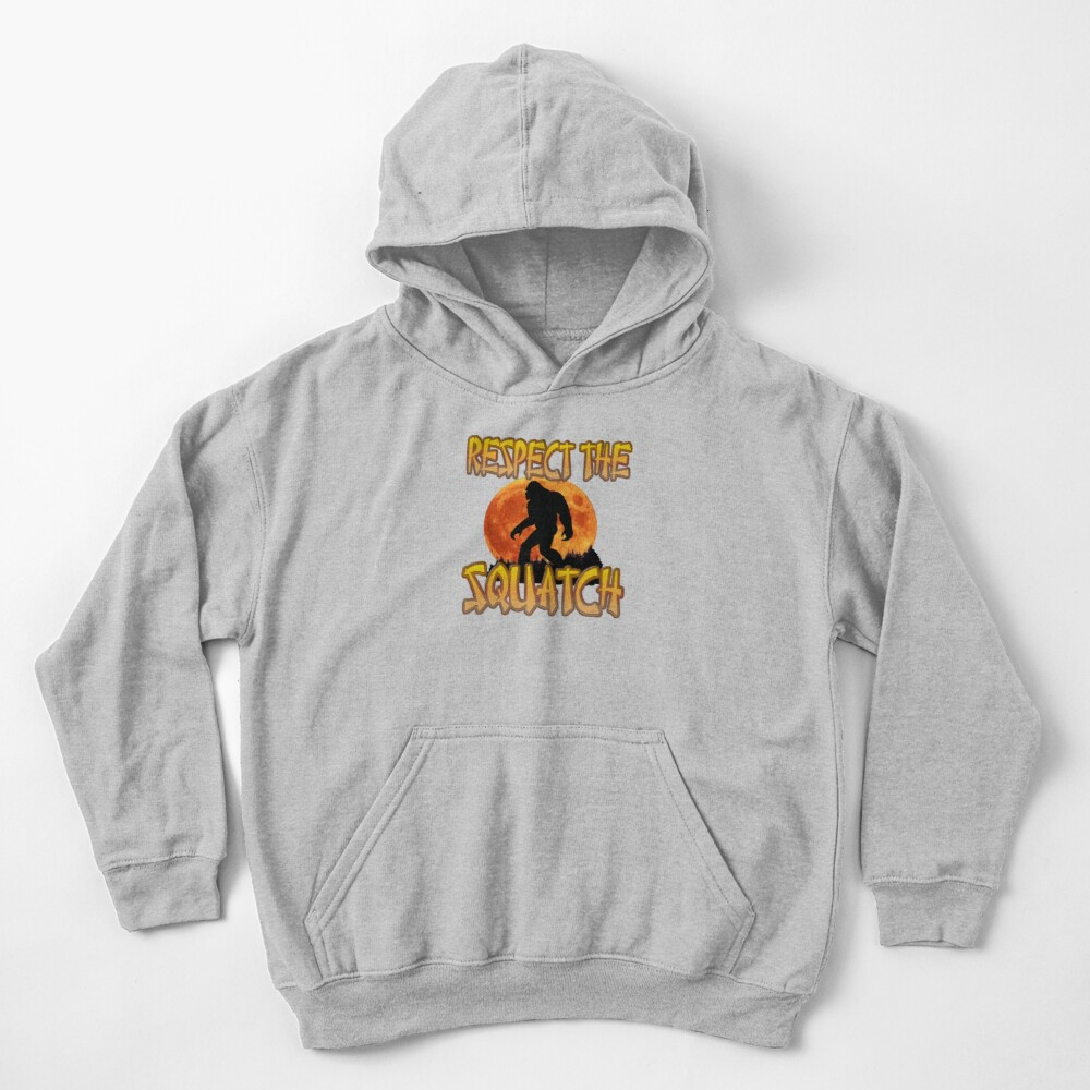 RESPECT THE SQUATCH Kids Pullover Hoodie