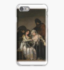 Majas on a Balcony , Attributed to Goya,  iPhone Case/Skin