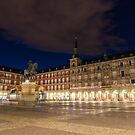 Bright Midnight - Plaza Mayor in Madrid Spain by Georgia Mizuleva