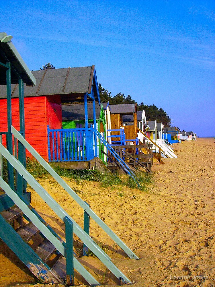 beach huts by Leanne Jones