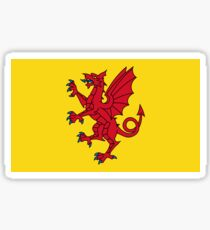 Flag of Somerset, UK Sticker