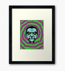 OBEY THE ZOMBIE BELA Framed Print