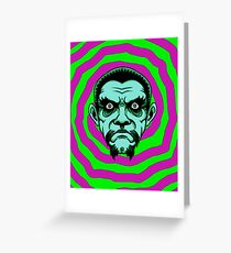 OBEY THE ZOMBIE BELA Greeting Card