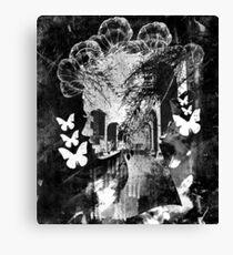 Monochromatic Woman Nature  Canvas Print