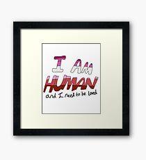 I Am Human - Lesbian Pride Framed Print