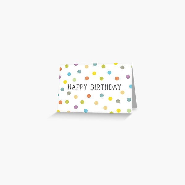 Happy Birthday Colourful Confetti Greeting Card
