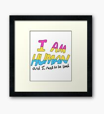 I Am Human - Pansexual Pride Framed Print