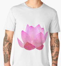 polygonal lotos flower Men's Premium T-Shirt