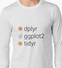 Tidyverse libraries: dplyr, ggplot2, tidyr Long Sleeve T-Shirt
