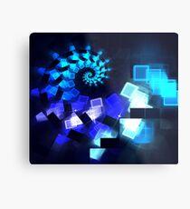 Blue Diamond Spiral Metal Print