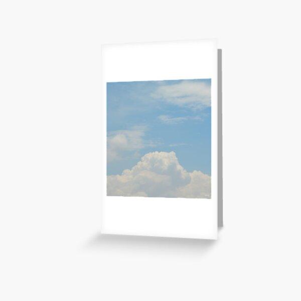 Powder Blue Greeting Card