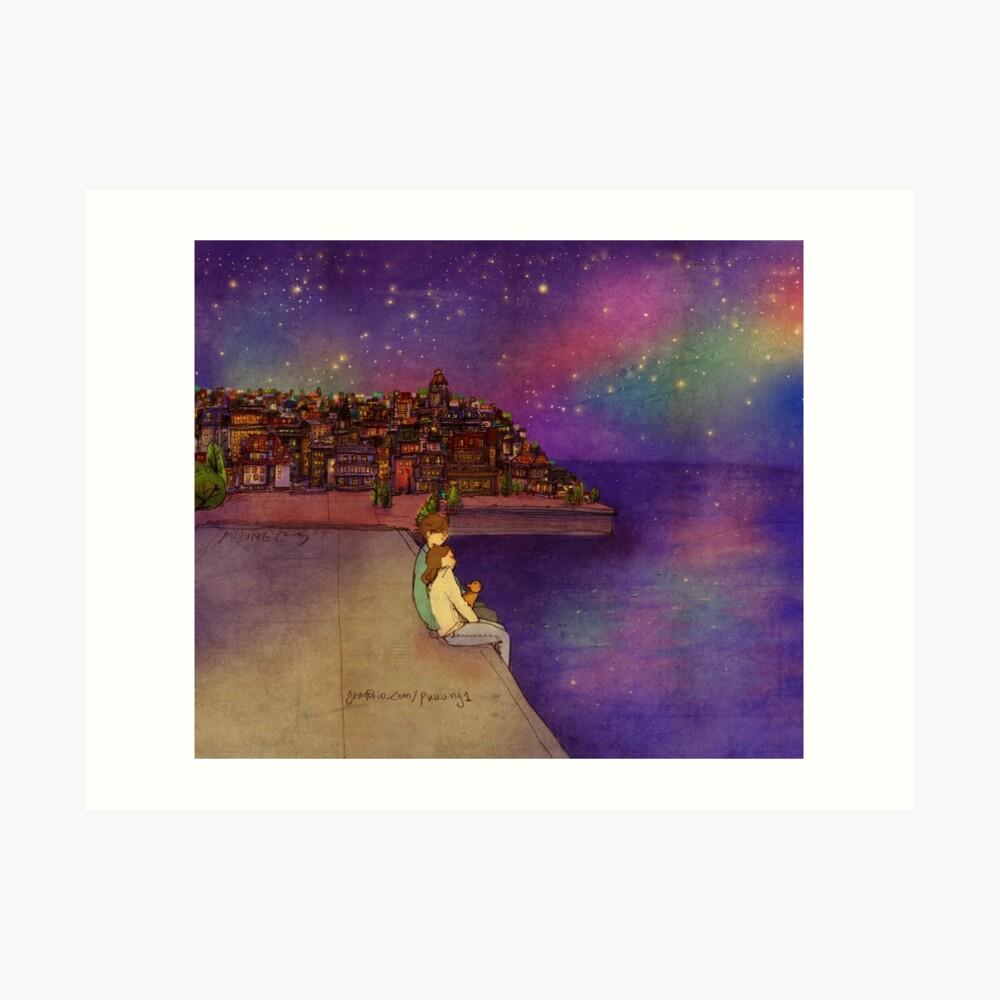 Nachthimmel Kunstdruck