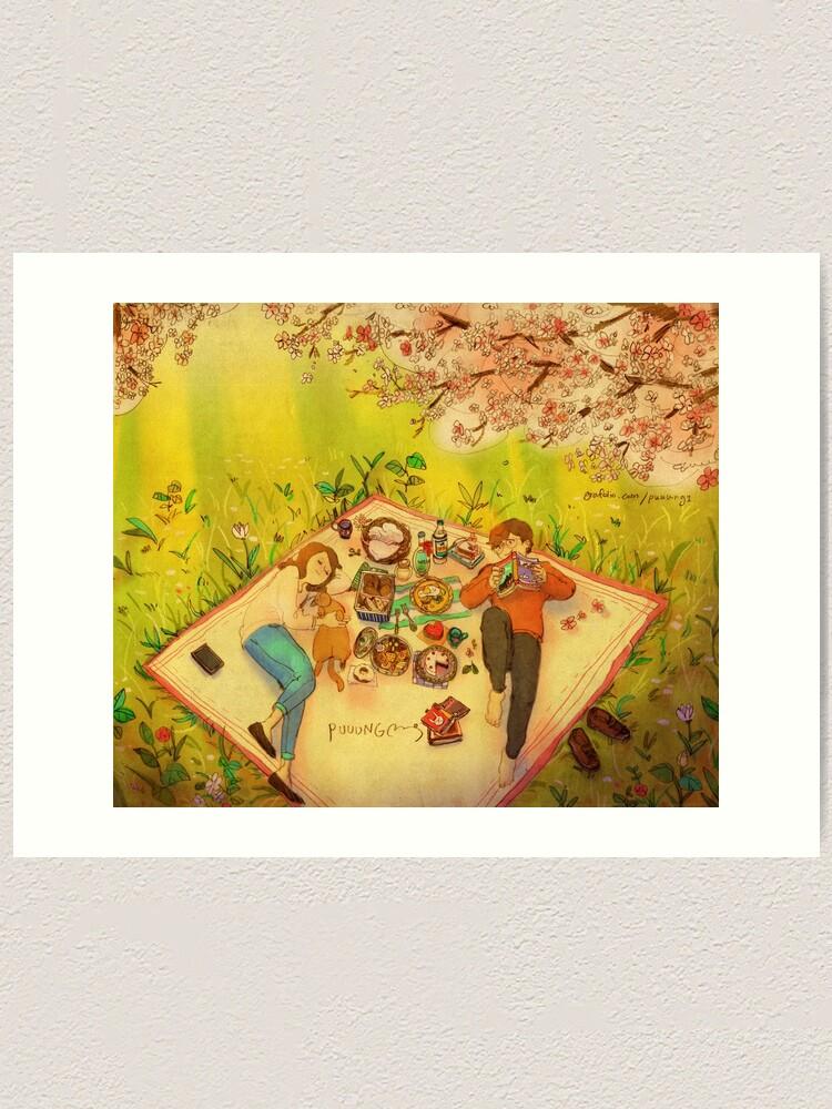 Alternate view of Spring picnic Art Print