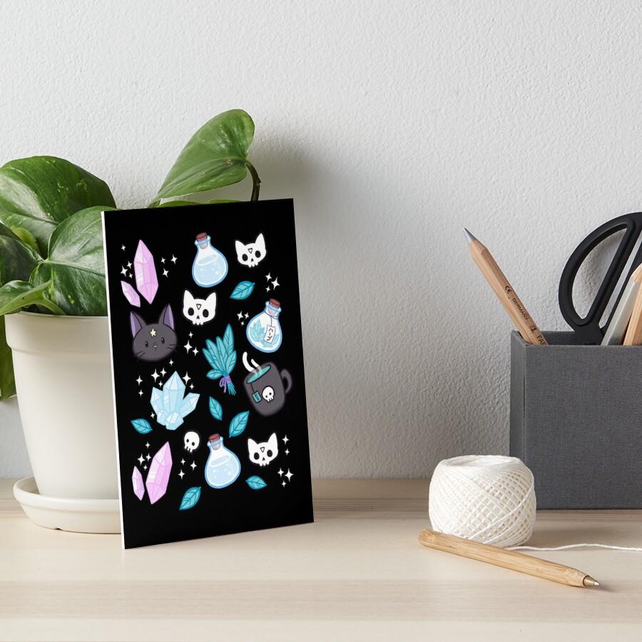 Herb Witch // Black Art Board Print